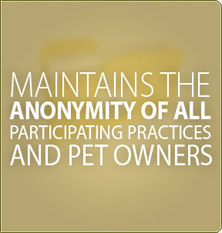 Maintains the anonymity of all participating practices and pet owners